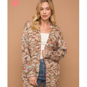 CONFETTI multi color knit cardigan